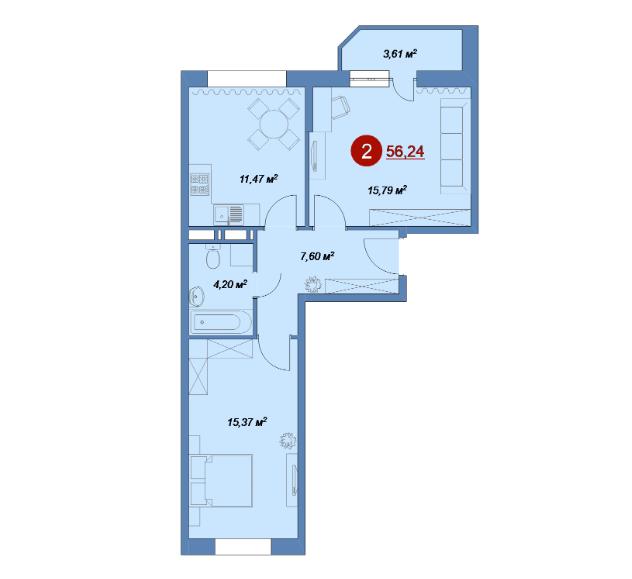 Двухкомнатные квартиры в продаже!