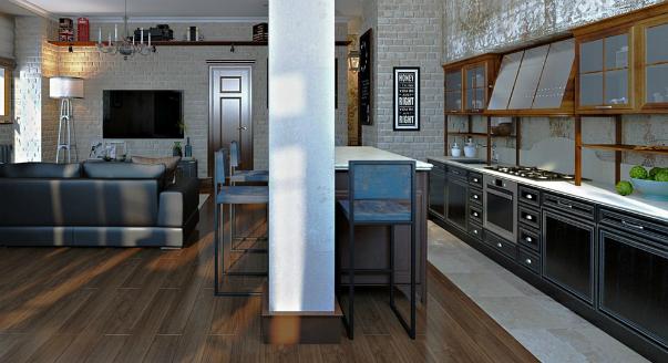 Стоит ли совмещать кухню и гостиную