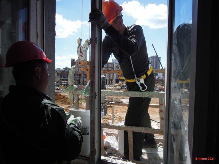 Информация о строительстве дома №1 Южного квартала ЖК Новые Островцы от 18 июня 2021 г.
