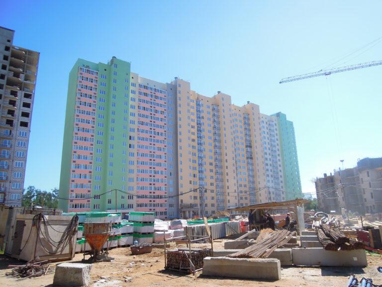 Информация о строительстве дома №1 Южного квартала ЖК Новые Островцы от 8 июля 2021 г.