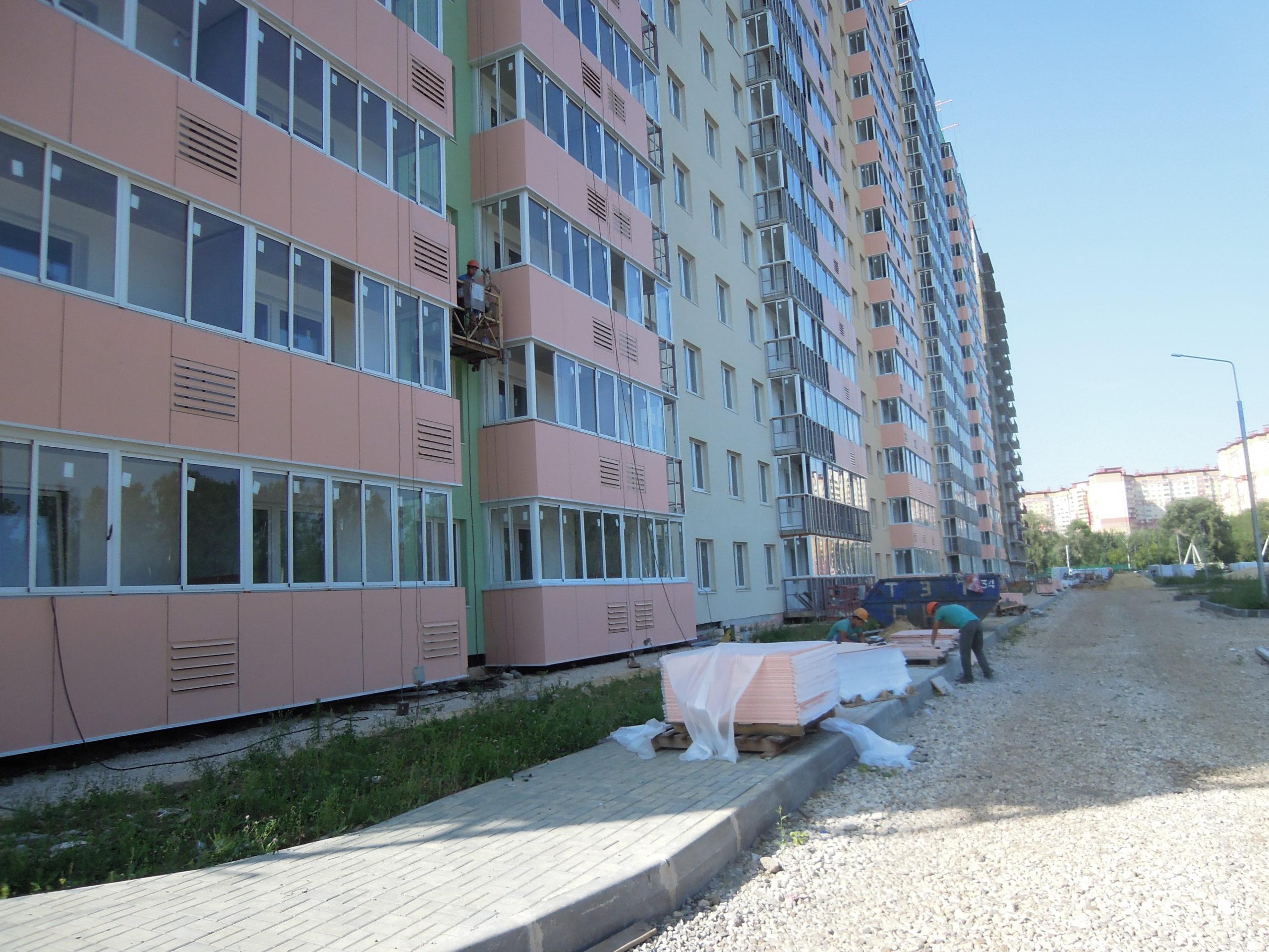 Информация о строительстве дома №1 Южного квартала ЖК Новые Островцы от 20 августа 2021г.