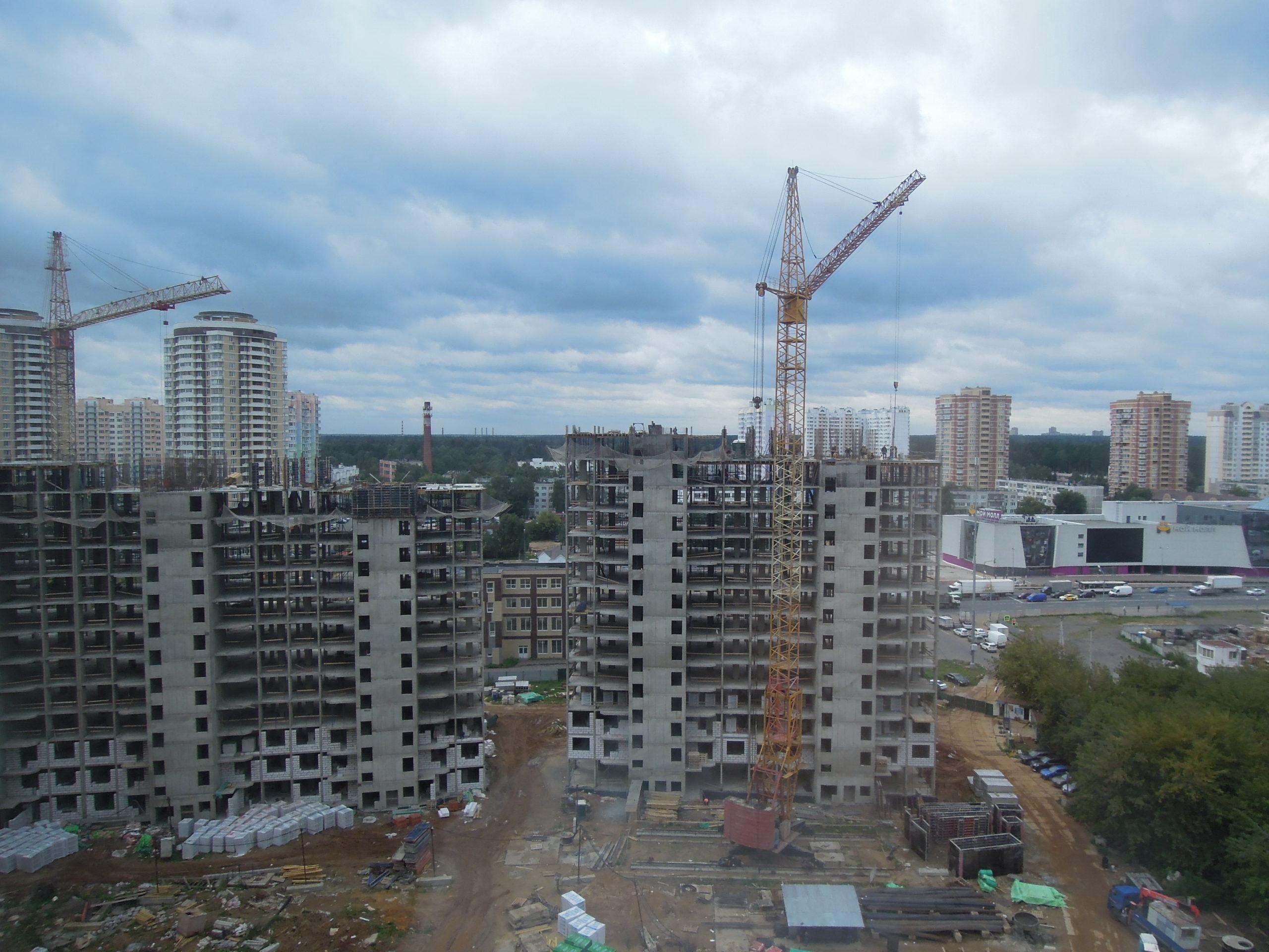 Новости строительства домов №2, №3 и №4 Южного квартала ЖК Новые Островцы от 9 сентября 2021 г.