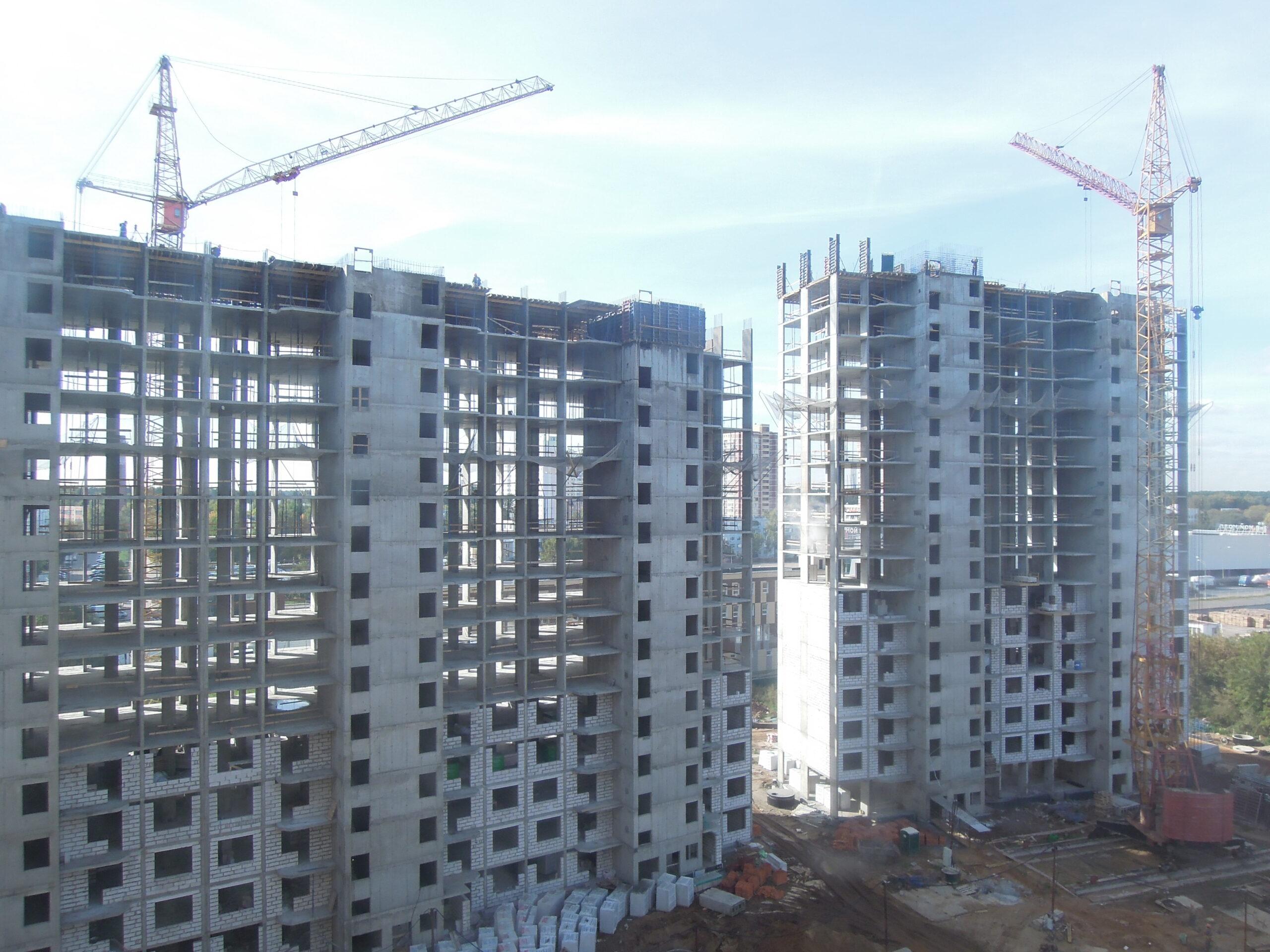 Новости строительства домов №2, №3 и №4 Южного квартала ЖК Новые Островцы от 30 сентября 2021 г.