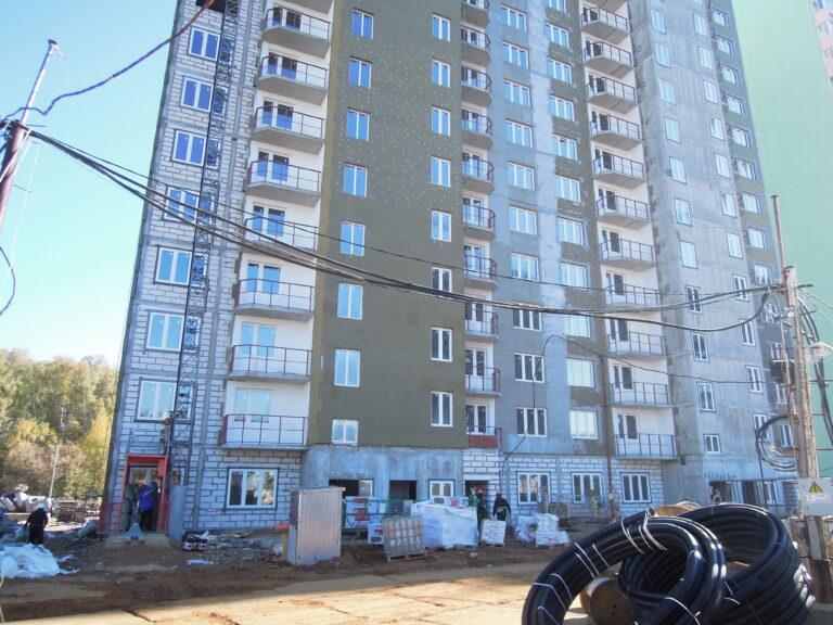 Информация о ходе строительства домов №2, №3 и №4 Южного квартала ЖК Новые Островцы от 7 октября 2021 г.